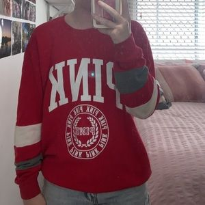 Victoria Secret PINK- red sweater size 10